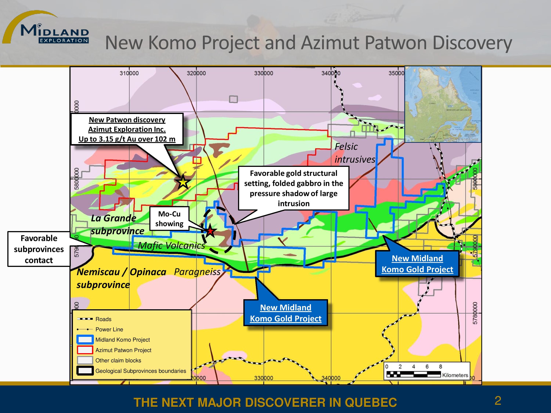 New Komo Project and Azimut Patwon Discovery