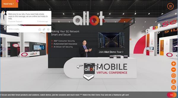 Allot Mobile Virtual Conference - Reception Area