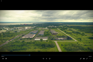 Aerial view of Nouveau Monde's planned future commercial operations in Bécancour. Learn more about the Company's strategic location here: https://youtu.be/CGh4ZChdHmc