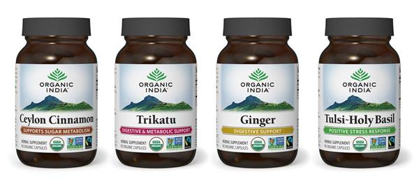 Organic India is launching the world's first Fairtrade certified supplements, including Ceylon Cinnamon, Tulsi (Holy Basil), Ginger, and Trikatu.