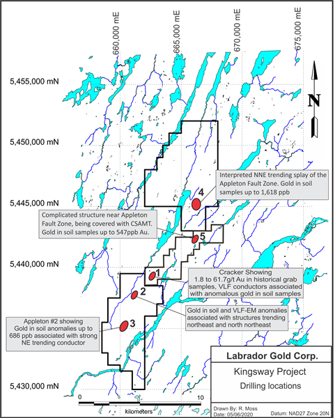 Kingsway Project Drilling Locations