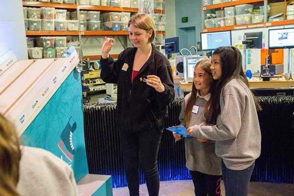 The Innovation on Ice: Zamboni® Design Challenge is the latest in a series of ice-hockey inspired activities designed by The Tech Museum in partnership with the Sharks Foundation and SAP.  Here, students test their physics and engineering design knowledge for the skate challenge in 2017.