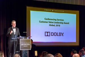 Dolby Laboratories Receives the Frost & Sullivan 2018 Customer Value Leadership Award