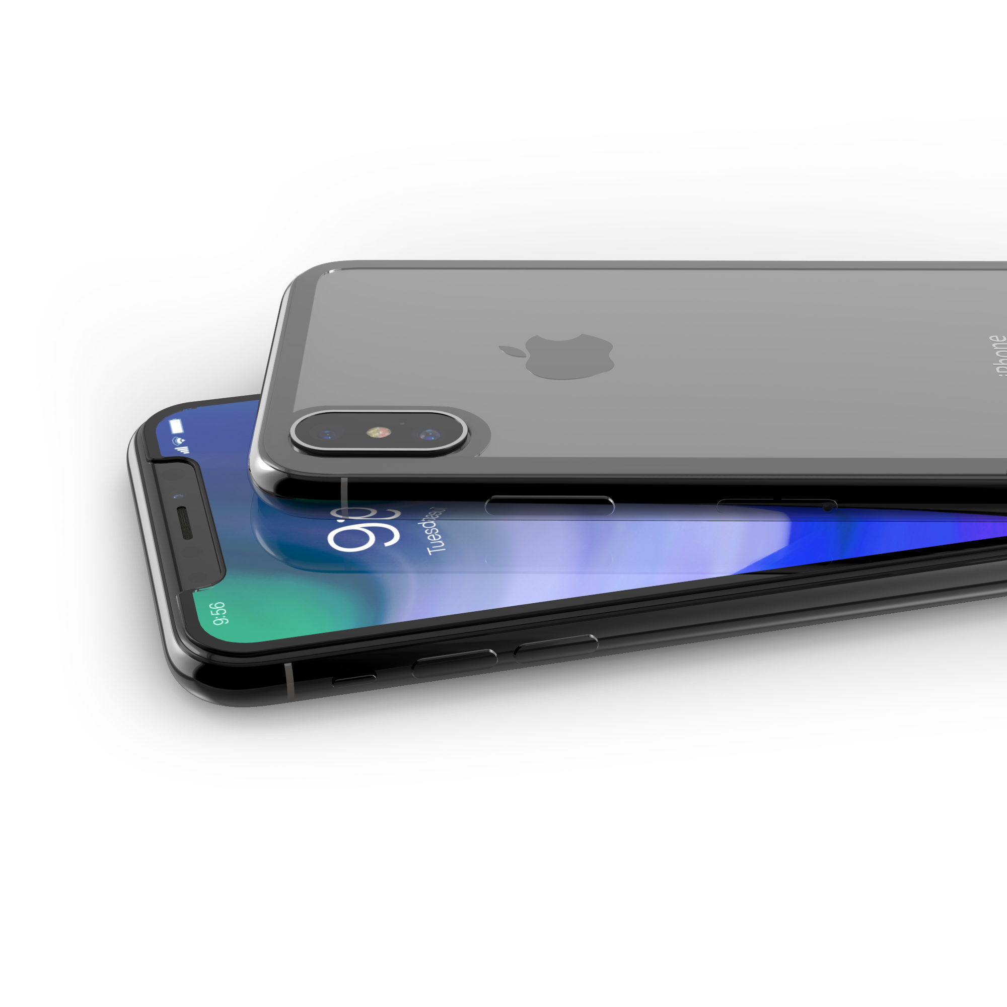 InvisibleShield Glass+ Luxe 360_iPhoneX_Gray