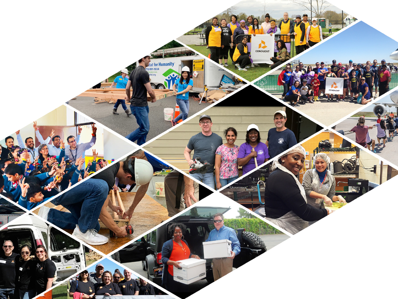 2019 CSR Report: In 2019, 21,234 Conduent employees, took part in 141 volunteer projects, donating over 49,000 hours across the globe.