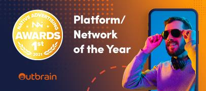 Outbrain Chosen as Native Advertising Platform/Network of the Year