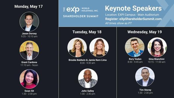 eXp Shareholder Summit Speakers