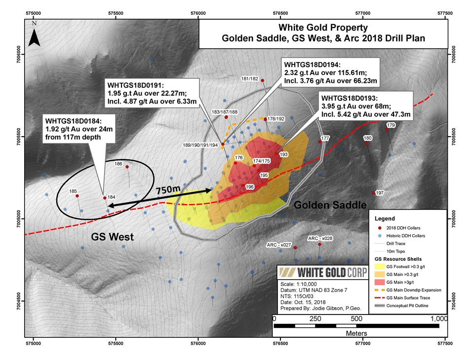 Golden Saddle, GS West, & Arc 2018 Drill Plan