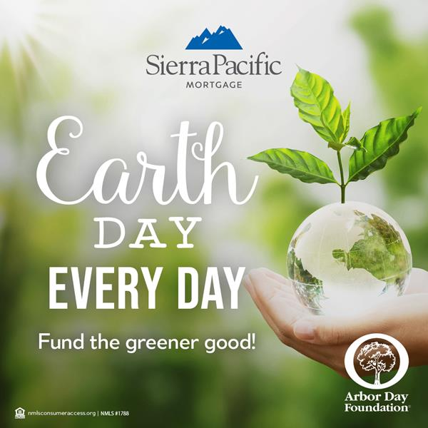 As part of their Earth Day Every Day campaign, Sierra Pacific Mortgage (SPM) has partnered with the Arbor Day Foundation and joined the nonprofit's Time for Trees™ initiative. For the remainder of 2021, any loans closed with the national mortgage lending company will support community-based reforestation by planting trees in the wake of natural disasters. By choosing to work with SPM, clients & business partners are providing hope in disaster-stricken communities and helping residents re-establish a sense of community.