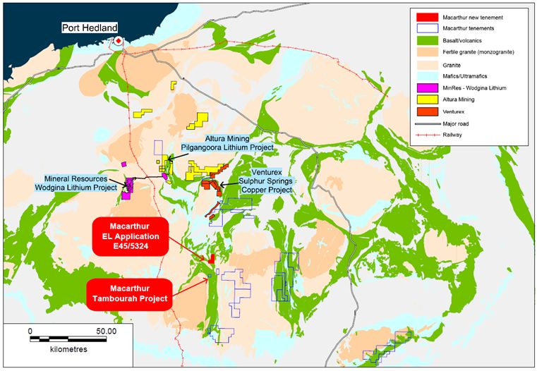 Macarthur Minerals Acquires New Pilbara Tenement With