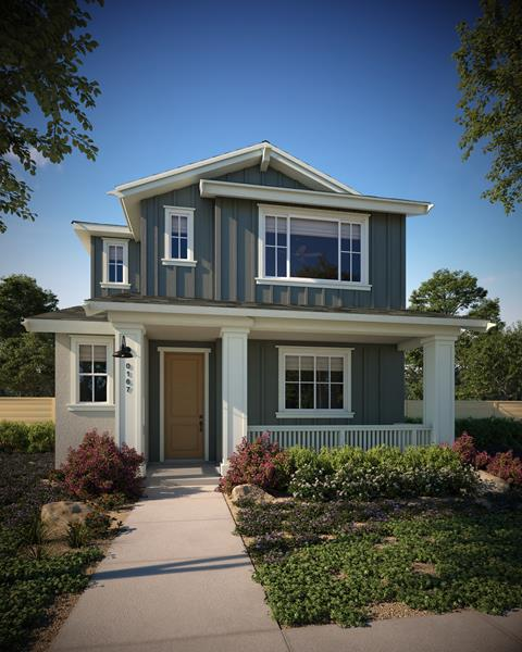 Santa Rosa welcomes new solar-powered homes at the Stony Village community by City Ventures, featuring 43 two-story plans with two-car garages. Pictured: Plan 2C at Stony Village.