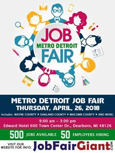 Metro Detroit Job Fair - April 26, 2018