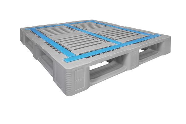 Craemer CR4-5, Newest Plastic Pallet - Side Angle