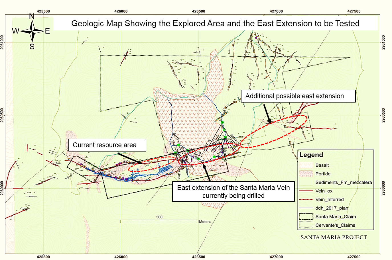 Santa Maria Geologic Map Showing East Extension to be Tested