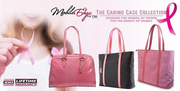 Mobile Edge has the perfect gift for Mother's Day: the gift of a case from our Caring Case Collection, each of which sports the symbolic pink breast cancer awareness ribbon. You'll not only be giving your mother a great gift she can use to protect her laptop and mobile electronics all year long, you'll be helping women in the fight against breast cancer.