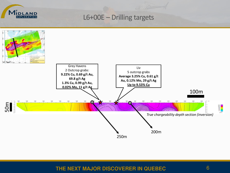 L6+00E - Drilling targets