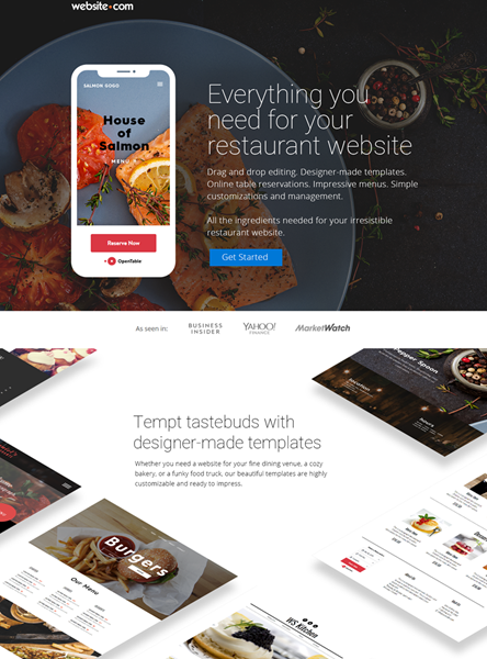Everything you need for your restaurant website