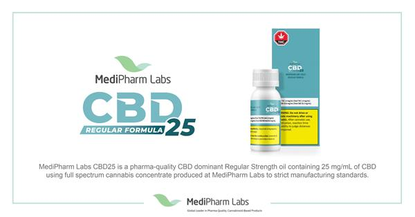 MediPharm Labs CBD REGULAR FORMULA 25 product launch 2020_highres