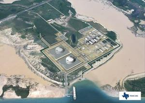 This image depicts Texas LNG's planned liquefaction facilities.