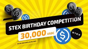 STEX CELEBRATES 4th BIRTHDAY WITH 30 000 USDC TRADING COMPETITION