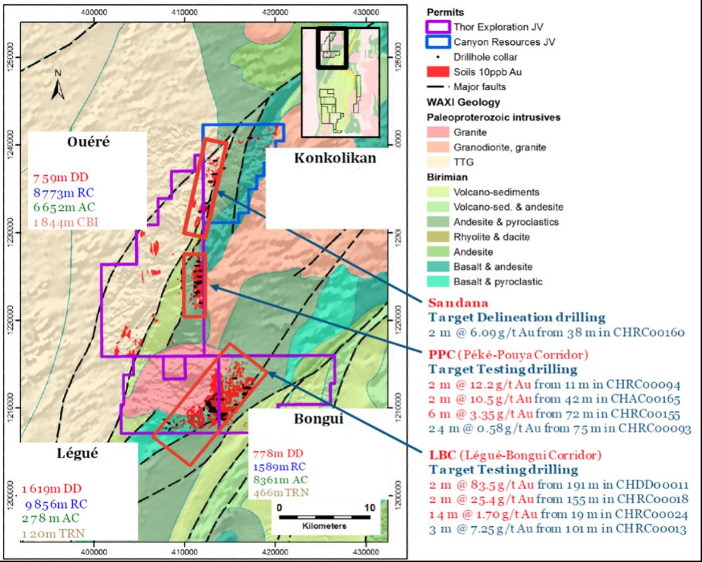 Figure 2- Exploration Summary Map
