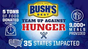 Minor League Baseball and BUSH'S® Beans Donate Over 10,000 Pounds of Canned and Dry Food Goods to Local Food Banks