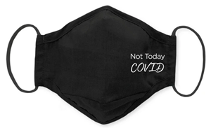 SwaddleDesigns Not Today COVID Face Mask is made with 3-layers of tightly woven cotton to stop droplets. This mask is a top seller at SwaddleDesigns.com. With over 100 masks available, Lynette Damir, RN, founder of SwaddleDesigns, is hopeful that the comfortable and secure design will make it easy for Americans to wear a mask all day and help stop the spread.