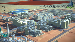 Three-Dimensional Image of Clean TeQ Sunrise Process Plant Facilities