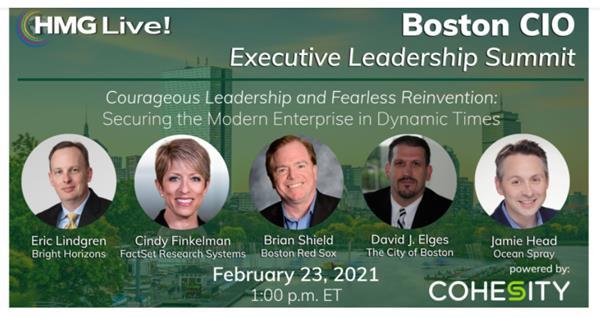 2021 HMG Live! Boston CIO Executive Leadership Summit
