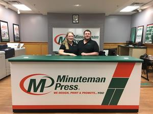 Betsy and Dustin Tino - Minuteman Press printing franchise owners - Fairmont, Minnesota