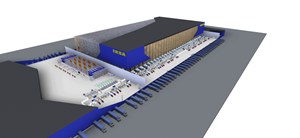 3D Depiction of New IKEA Distribution Center in Montreal