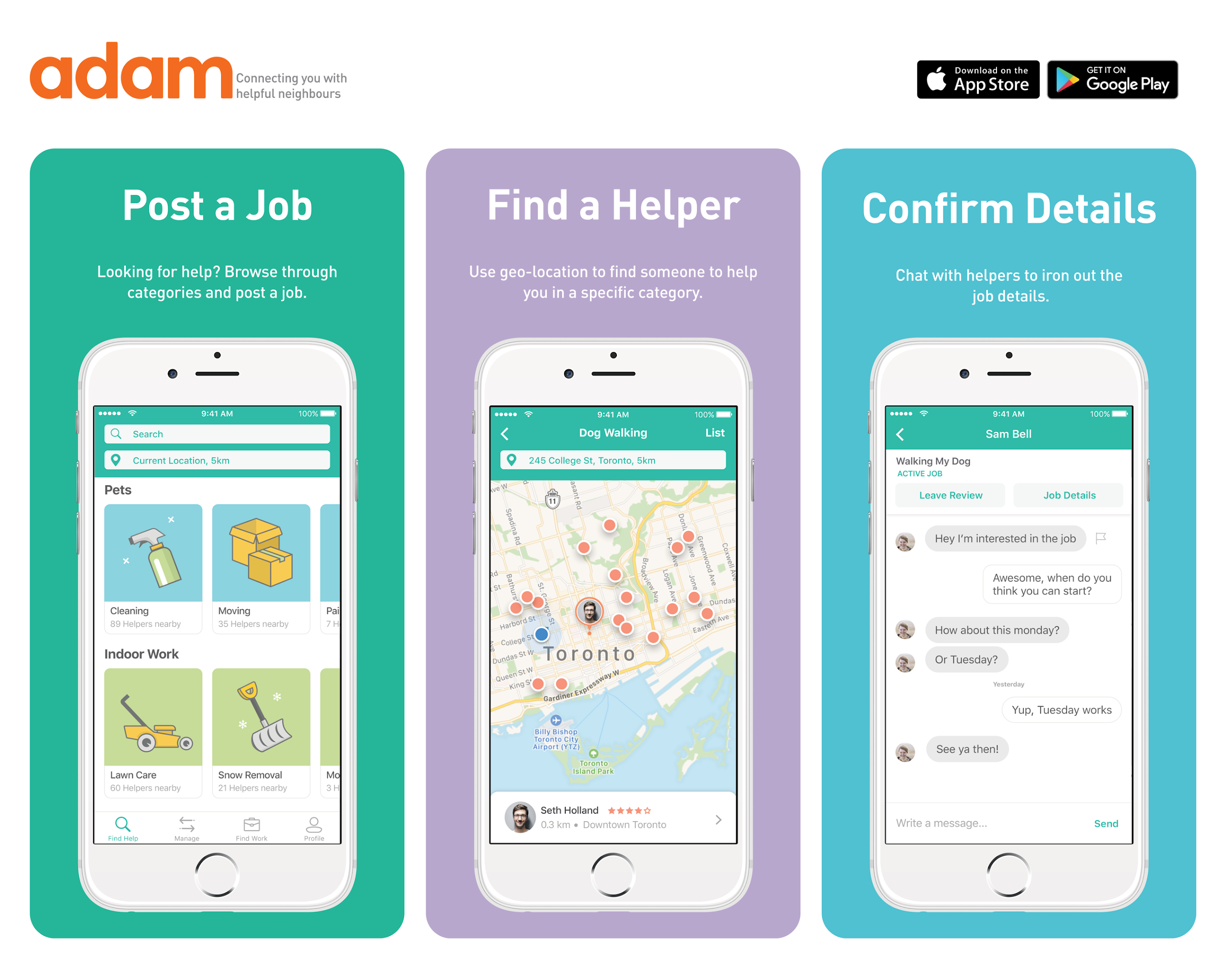 How to Use the Adam App