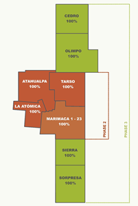 Figure 1: 100% owned Marimaca 1-23 claim and the 100% controlled Marimaca project