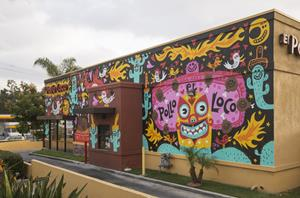 Alvarado Street El Pollo Loco Mural