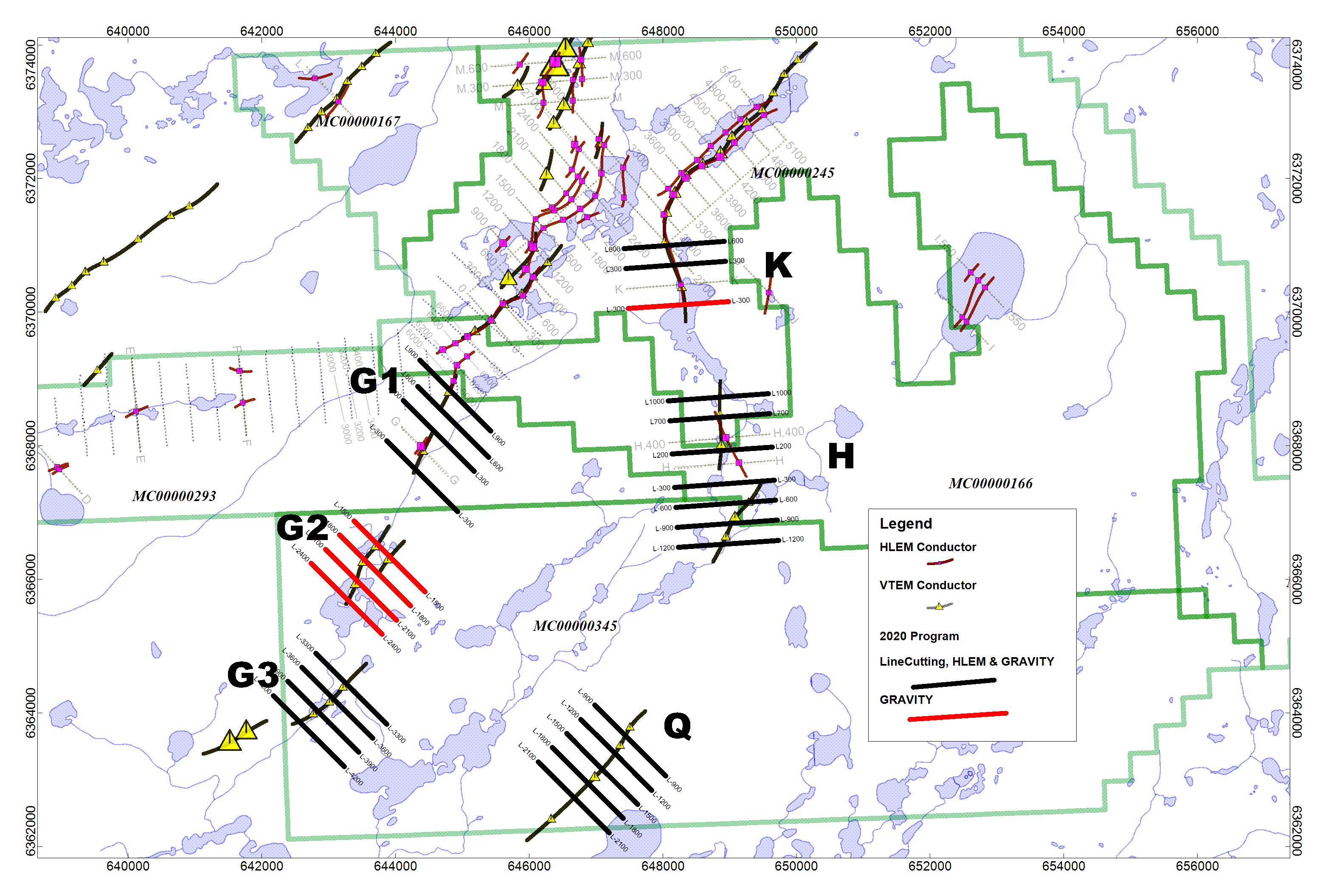 Figure 1 – East Preston Summer Geophysical Program Location Map