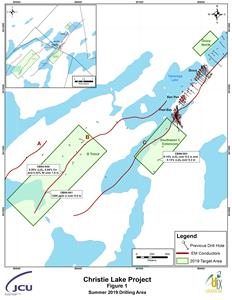 Christie Lake Project Figure 1 Summer 2019 Drilling Area