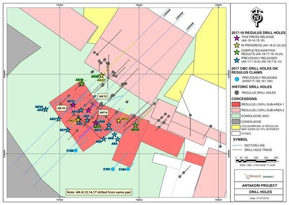 Regulus Reports Best Drill Results To Date From The Antakori Copper