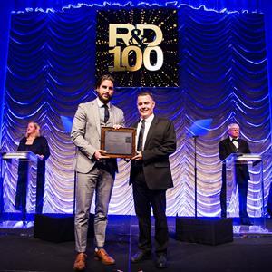 Award Acceptance Photo