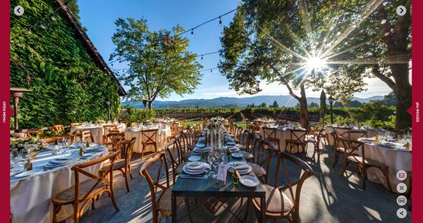 Harvest Inn (St. Helena, Napa Valley, CA) - Wedding Reception Setup - TrueTour 360°