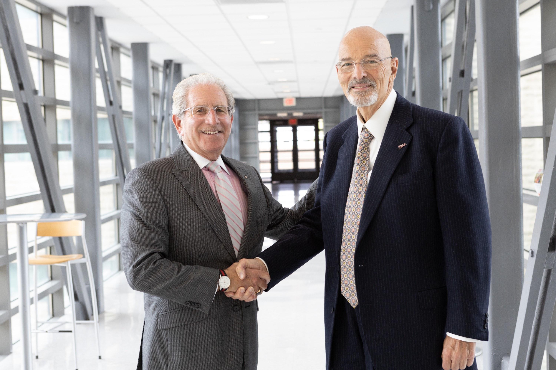 New Jersey Institute of Technology President Joel S. Bloom and Paul V. Profeta, president of The Paul V. Profeta Foundation, Inc.
