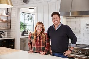 Designer Shea McGee and chef and restauranteur Scott Conant in Food Network's Fantasy Kitchen