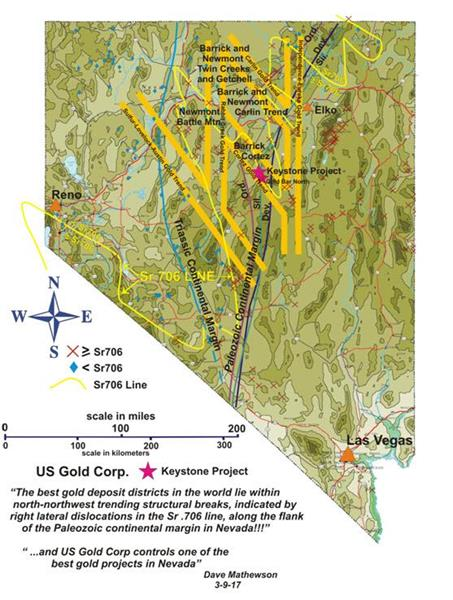 UPDATE US Gold Corp Provides Keystone Update On - Map of gold in the us