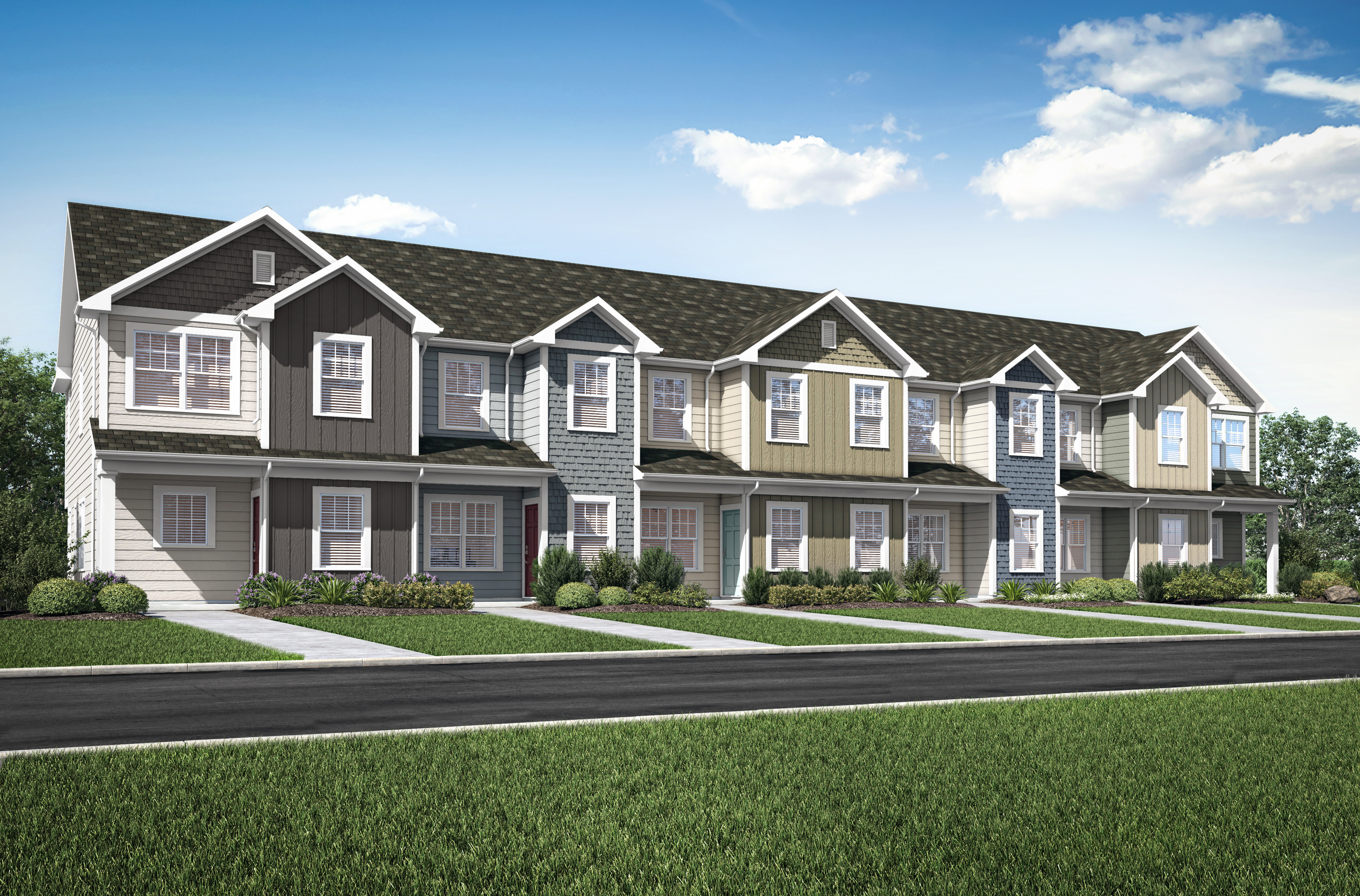 The Maple and Chestnut townhomes by LGI Homes at Carthage Townes