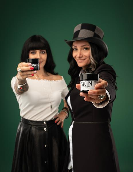 EKS co-founders Ashley Short and Tijen Yalchin with their Pain and Skin ready-to-infuse topicals