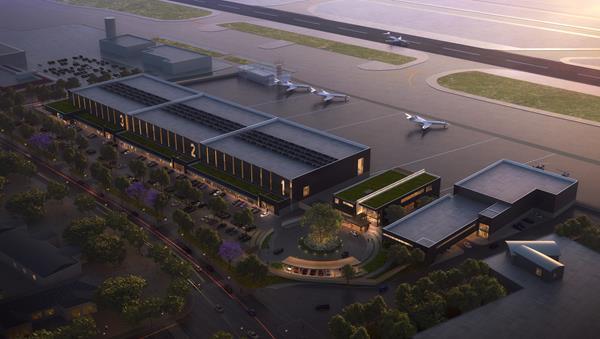 Clay Lacy Aviation development at Orange County's John Wayne Airport (KSNA).