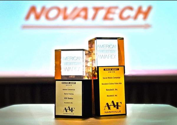 Novatech, Inc. was recently honored by the American Advertising Federation (AAF), Nashville Chapter, with a Gold and Silver ADDY for Video and Social Media at the 54th Annual American Advertising Awards.