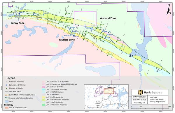 North Limb Plan Map