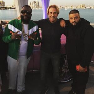 Mike Sherman with DJ Khaled and Rick Ross