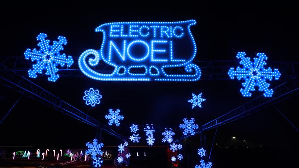 The Electric Noel Drive Thru Christmas Experience runs through Jan. 3 in Norco, CA. The event benefits Save Our Souls, a nonprofit dedicated to supporting mental wellness. Alki David's Hologram USA donated the technology to bring Hologram Santa to life.The event will also raffle off a surfboard donated by Kelly Slater and painted by street artist Retna. Tickets at ElectricNoel.com