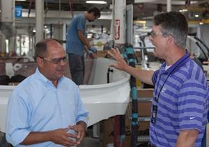 Cobalt Boats Hosts Factory Tour for U.S. Congressman Roger Marshall
